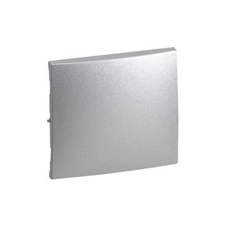 Лицевая панель для одноклавищного выключателя цвета алюминий, Valena (комплект 10 шт.)