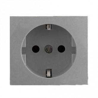 Лицевая панель для электрических розеток цвета алюминий, Valena