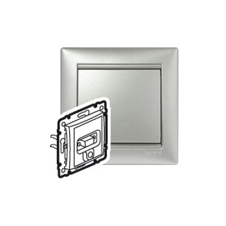 VGA + разъем mini jack 3,5 мм цвета алюминий, Valena