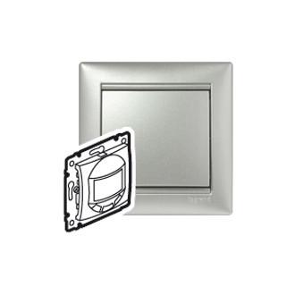 Датчик движения с углом обзора 180° цвета алюминий, Valena