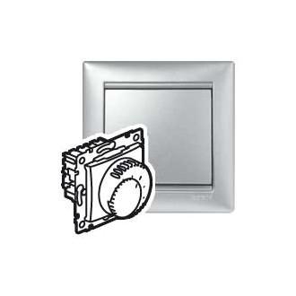 Терморегулятор для систем теплых полов цвета алюминий, Valena