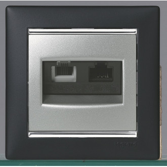 Рамка ноктюрн/серебряный штрих, Valena
