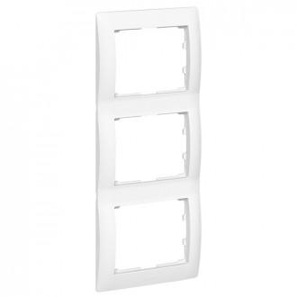 Рамка 3 поста вертикальная белая, Galea Life