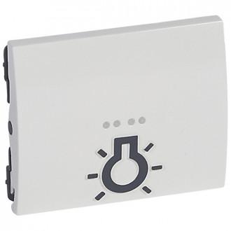 Клавиша простая с иконкой лампа для слабовидящих белая, Galea Life