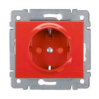 Розетка с механической блокировкой красная, Galea Life (комплект 10 шт.)
