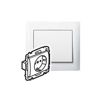 Розетка с автоматическими клеммами с защитными шторками белая, Galea Life (комплект 10 шт.)