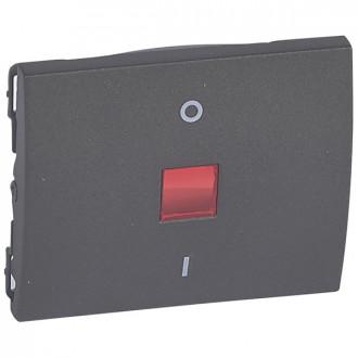Клавиша двухполюсная 0/1 с индикацией цвета темная бронза, Galea Life