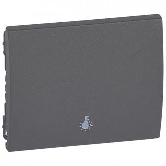 Клавиша простая с иконкой лампа цвета темная бронза, Galea Life (комплект 10 шт.)