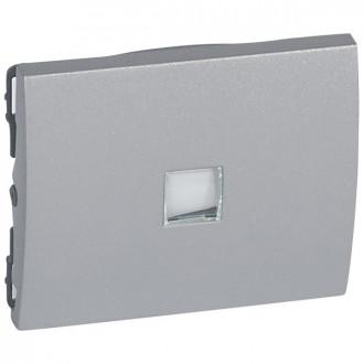 Клавиша простая с индикацией с иконкой цвета алюминий, Galea Life