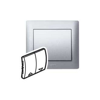 Клавиша двойная для механизмов управления рольставнями цвета алюминий
