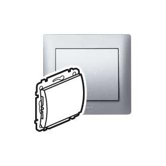 Заглушка без фиксатора кабеля цвета алюминий, Galea Life