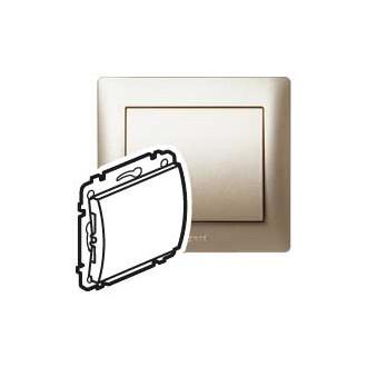 Заглушка без фиксатора кабеля цвета титан, Galea Life