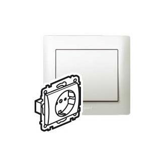 Розетка с автоматическими клеммами с защитными шторками перламутровая, Galea Life (комплект 10 шт.)