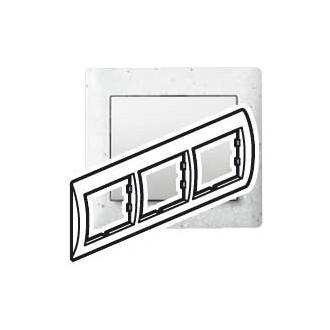 Рамка 3 поста белая под искусственный камень, Galea Life