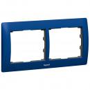 Рамка металлическая 2 поста синяя, Galea Life уценен