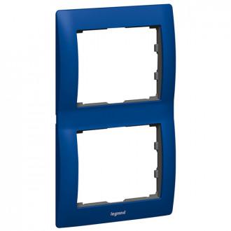 Рамка металлическая 2 поста синяя, Galea Life
