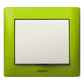 Рамка металлическая 1 пост зеленая, Galea Life
