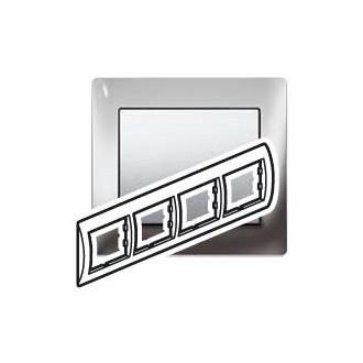 Рамка металлическая 4 поста цвета хром, Galea Life