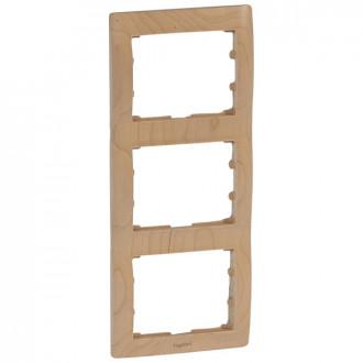 Рамка из дерева 3 поста цвета клен, Galea Life