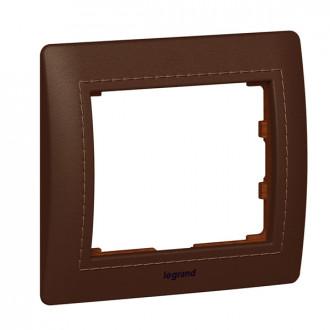 Рамка  из натуральной кожи 1 пост коричневая, Galea Life