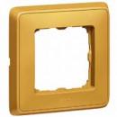 Рамка 1 пост матовое золото, Cariva