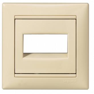 Кнопка 12 В с подсветкой с этикеткой слоновая кость, Valena (комплект 10 шт.)