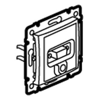 VGA + разъем mini jack 3,5 мм слоновая кость, Valena