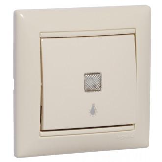 Кнопка с подсветкой с иконкой лампы слоновая кость, Valena (комплект 10 шт.)