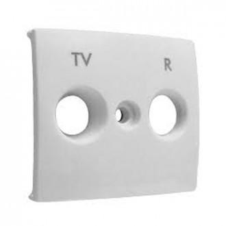 Лицевая панель для розеток TV-R белый, Valena (комплект 10 шт.)