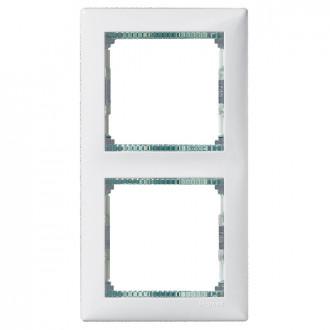 Рамка 2 поста белый/кристалл, Valena (комплект 10 шт.)