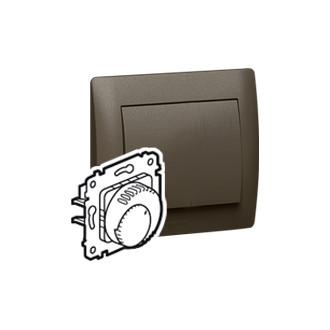 Термостат с контактом Н.З. и со светодиодом темно-бронзовый, Galea Life