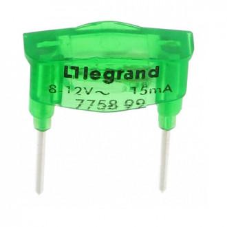 Лампа для подсветки светорегулятора 15 мА зеленая, Galea Life (комплект 10 шт.)