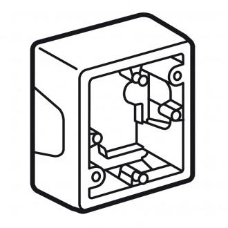 Коробка для накладного монтажа слоновая кость, Valena