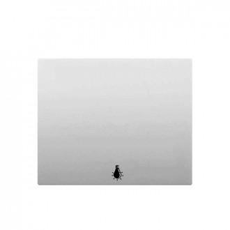 Клавиша простая с иконкой лампа белая, Galea Life (комплект 10 шт.)