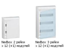 NEDBOX - накладные распределительные щитки до 63А от 8 до 48 модулей