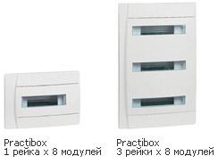PRACTIBOX - распределительные щитки скрытого монтажа от 6 до 36 модулей